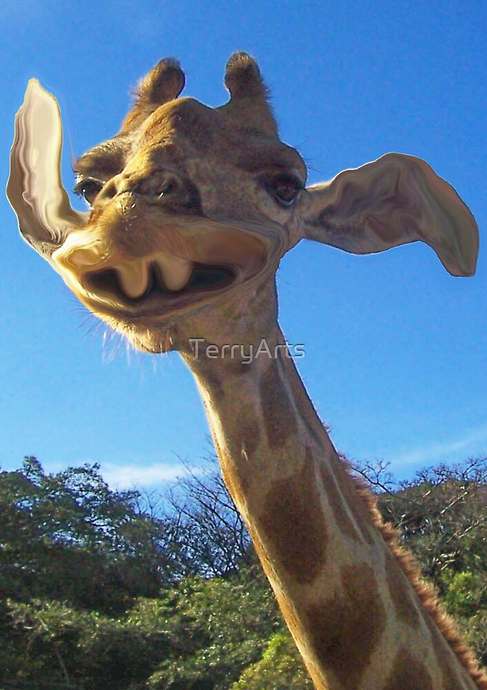Funny Friendly Giraffe by Teresa Schultz