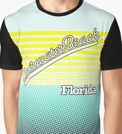 Clearwater Beach, Florida | Surf Stripes Graphic T-Shirt