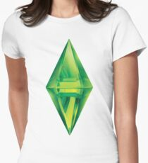 Sims plumbob sticker Women's Fitted T-Shirt