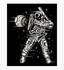 Space Baseball Astronaut Photographic Print