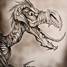 Dragon with a long tongue by Extreme-Fantasy