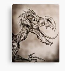 Dragon with a long tongue Canvas Print