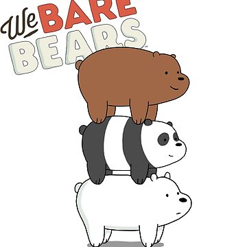 We Bare Bears Cartoon - Bear Stack - Grizz, Panda, Ice Bear by DomCowles12