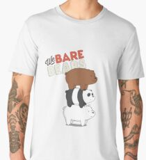 We Bare Bears Cartoon - Bear Stack - Grizz, Panda, Ice Bear Men's Premium T-Shirt