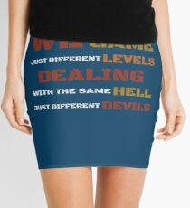 We're all in the same game t shirt Mini Skirt