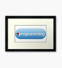 heart programming button Framed Print