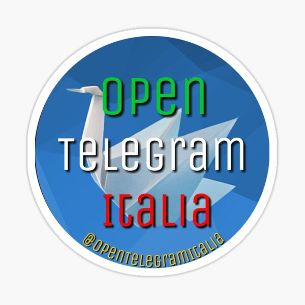 Open Telegram Italia Sticker