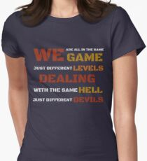 We're all in the same game t shirt Women's Fitted T-Shirt