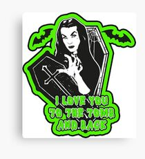 Vampira To the tomb and back Canvas Print