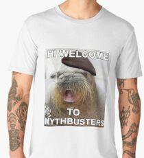 Mythbusters Jamie Hyneman seal Men's Premium T-Shirt