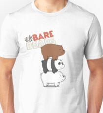 We Bare Bears Cartoon - Bear Stack - Grizz, Panda, Ice Bear T-Shirt