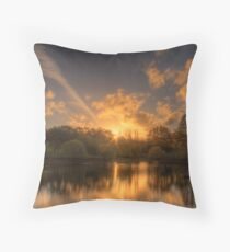 Sunset at Appletree Cottage, Adelaide Hills Throw Pillow