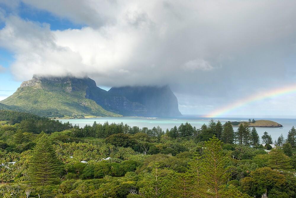 Lord Howe Island Rainbow 2 by Geoffrey Chang