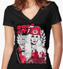 Drag City - Katya Women's Fitted V-Neck T-Shirt