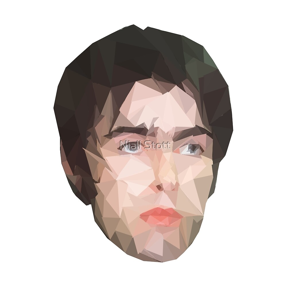 Liam Gallagher Low-Poly Geometric by Niall Stott