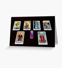 Tarot Cards And Crystal Greeting Card