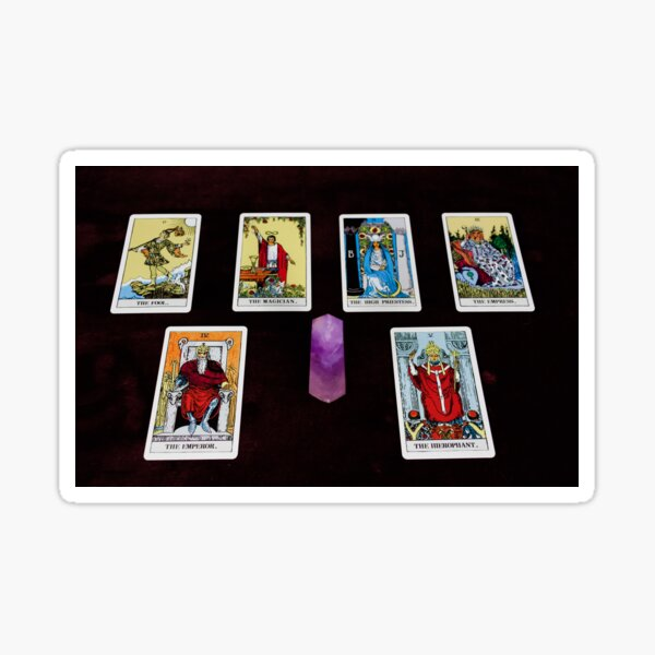 Tarot Cards And Crystal Sticker