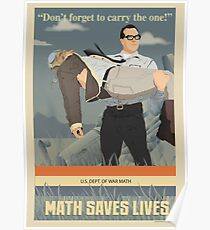 MATH SAVES LIVES Poster
