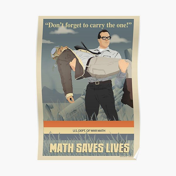 MATH SAVES LIVES Poster