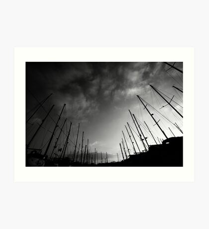 Yachts in the sky Art Print