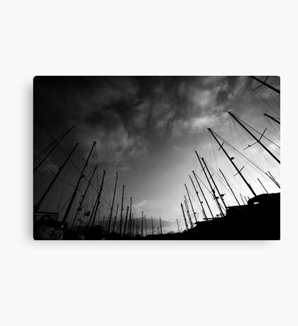 Yachts in the sky Canvas Print