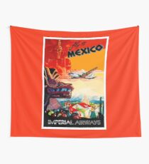 IMPERIAL AIRWAYS : Fly to Mexico Print Wall Tapestry