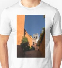 Quintessential Spain - Imposing Walls and Crenelated Towers in Barrio Santa Cruz Seville T-Shirt
