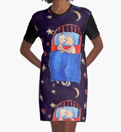 Asleep Graphic T-Shirt Dress