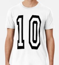 10, TEAM SPORTS NUMBER, TEN, TENTH, Competition Männer Premium T-Shirts