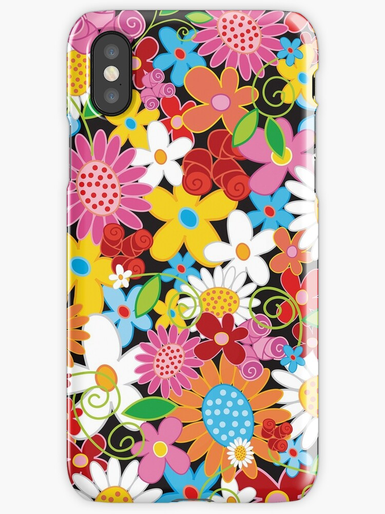 Whimsical Spring Flowers Power Garden by fatfatin