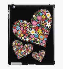 Whimsical Spring Flowers Valentine Hearts Trio iPad Case/Skin