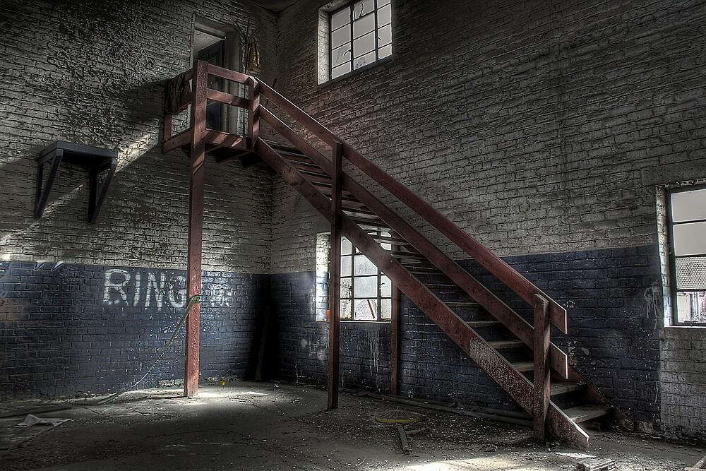 Red Stairs by Richard Shepherd