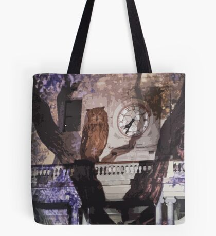 Owls in the Clocktower Tote Bag