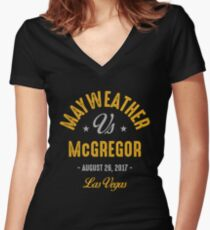Mayweather vs McGregor Boxing shirt Women's Fitted V-Neck T-Shirt