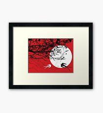 Oriental Swallows In Moonlight  Framed Print
