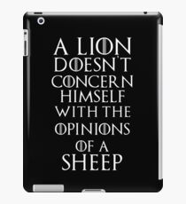 Game of Thrones Tywin Lannister Season 1 Quote iPad Case/Skin