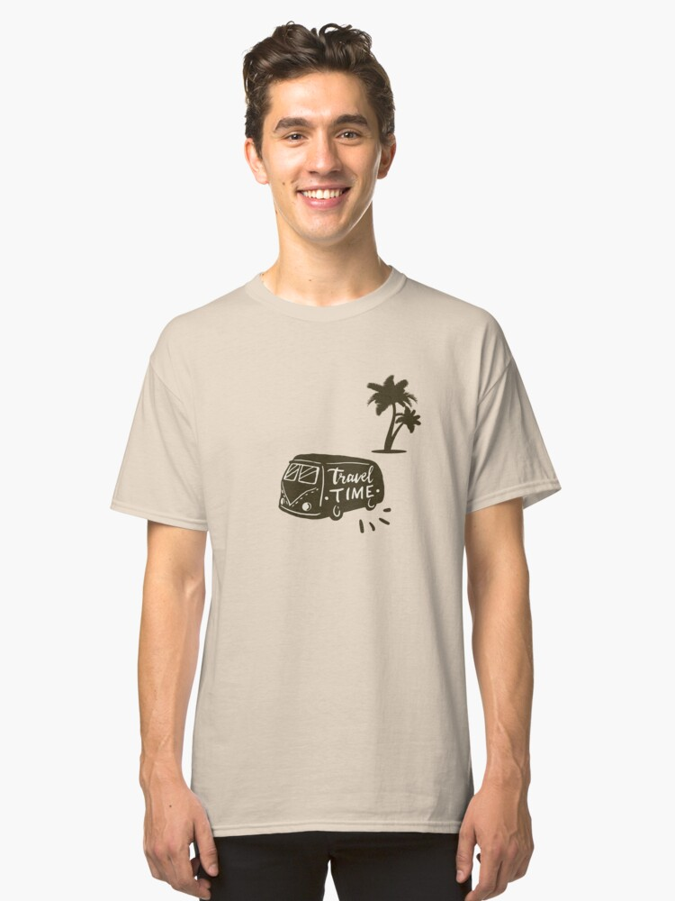 Travel Time Classic T-Shirt Front