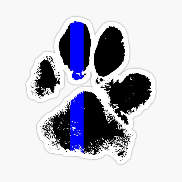 k9 blue line stickers and other products Sticker