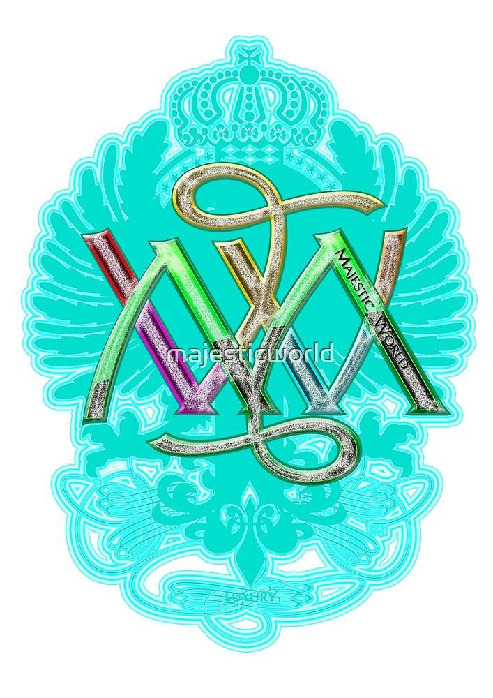 Pattern - Turquoise - Logo - Majesticworld - Exclusive Design MAMARTIN by majesticworld