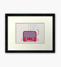 Radio Static Framed Print