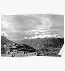 Lago di Garda, view from Monte Stivo, Italy Poster