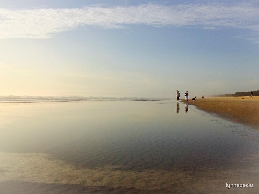 A Walk on the Beach by lynnebeclu