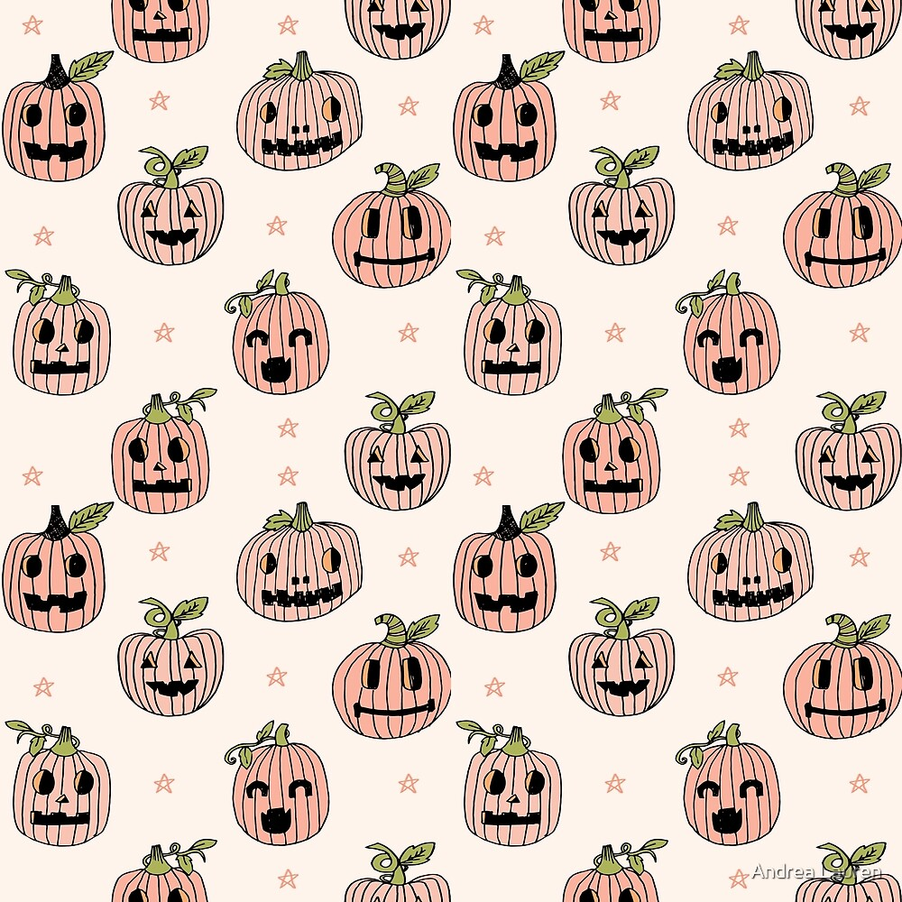Pumpkins halloween carving cute october fall kids gifts autumn jack-o'-lantern by Andrea Lauren