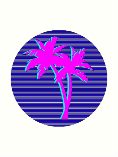 Quot Palms Vaporwave Aesthetic Quot Art Prints By