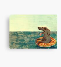 Relaxed Doggo Canvas Print