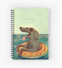 Relaxed Doggo Spiral Notebook