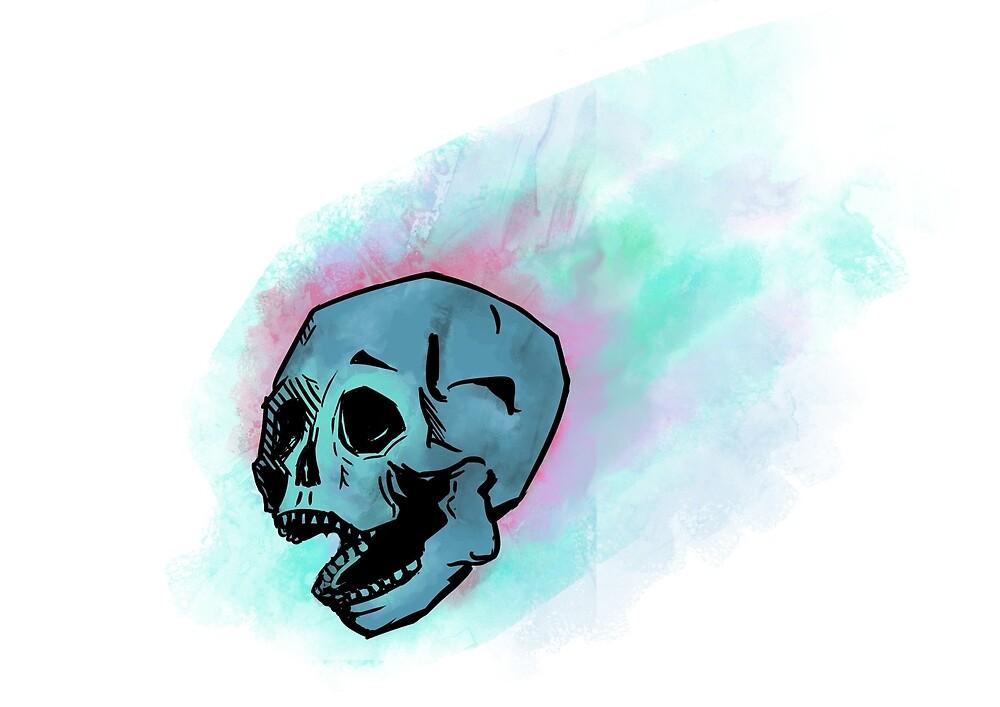 Blu Screaming Skull by Phrazer
