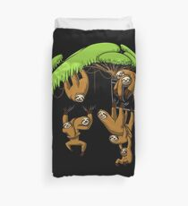 Sloth Family Funny Pocket Cute Forest Animals Duvet Cover