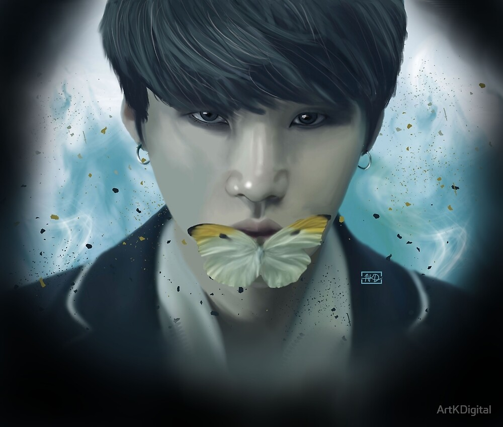 BTS- Suga, Digital Painting by ArtKDigital