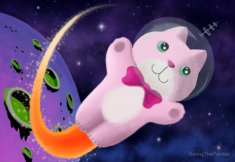 Captain Space Kitty Of The 24th Century by BunnyThePainter